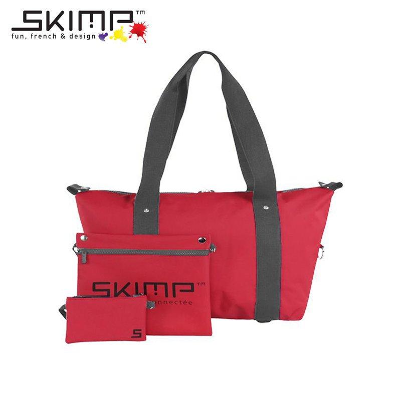 ボストンバッグ 大容量 作業着 ユニフォーム カメラスタンド 機材 テニスラケット 収納 旅行かばん スポーツ SKIMP Globe-trotter レッド (赤)