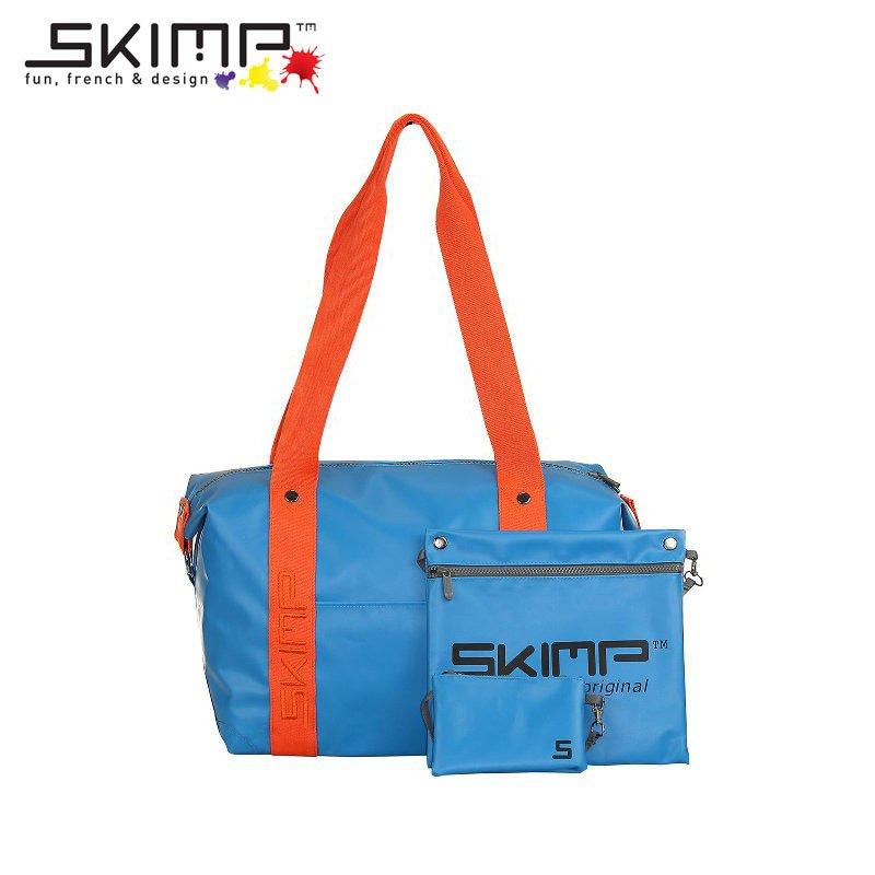 ボストン スポーツ バッグ 1泊 2泊 乗馬 メンズ レディース 防水 ゴルフ ヨガ ジム通い 機内持込 水着 ウェットスーツ 収納 大人 SKIMP ブルー (水色 青)