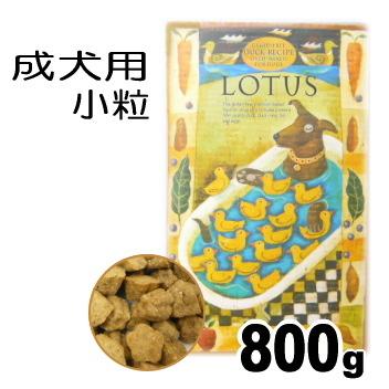 【ドッグフード】ロータス グレインフリー ダックレシピ 小粒 800g (チワワ 小型犬 成犬 穀物不使用 ドッグフード)