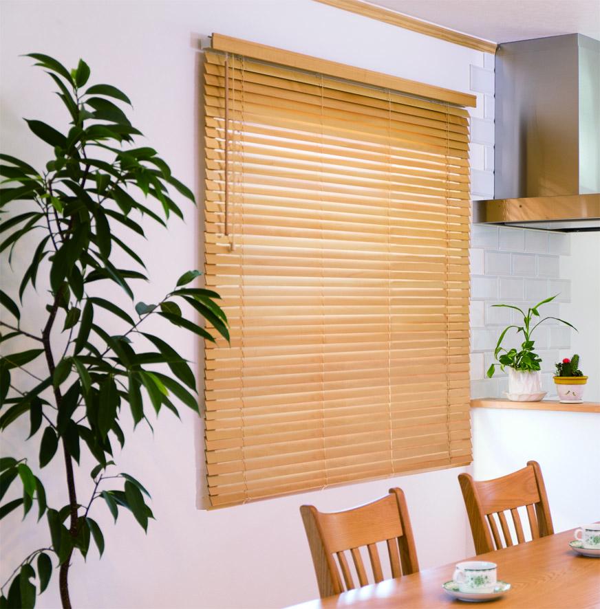 前飾り付き 天然木 即出荷 木製ウッドブラインド 35mm ウッドブラインド オーダーメイド 送料無料新品