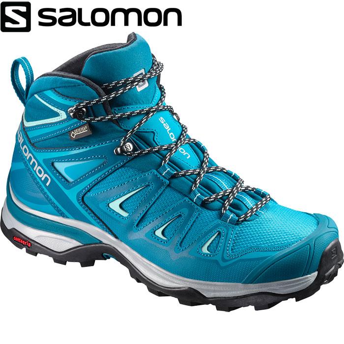 SALOMON サロモン X ULTRA 3 MID GTX W 〔 レディース ハイキング マルチ GORE-TEX 2018SS 〕 (ディープラグーン):L39868600 [クリアランスpt0]