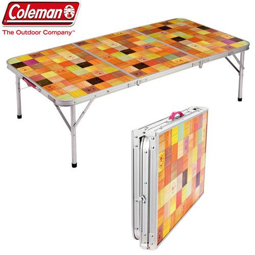 coleman コールマン ナチュラルモザイクリビングテーブル/140プラス キャンプ BBQ テーブル 折りたたみ式:2000026750