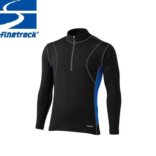finetrack ファイントラック メンズ フラッドラッシュ ジップネック Col:BK アンダーウエア ジップアップ スポーツ 吸汗 速乾 撥水 保温:FWM0122