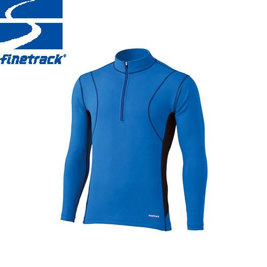 finetrack ファイントラック メンズ フラッドラッシュ ジップネック Col:LB アンダーウエア ジップアップ スポーツ 吸汗 速乾 撥水 保温:FWM0122