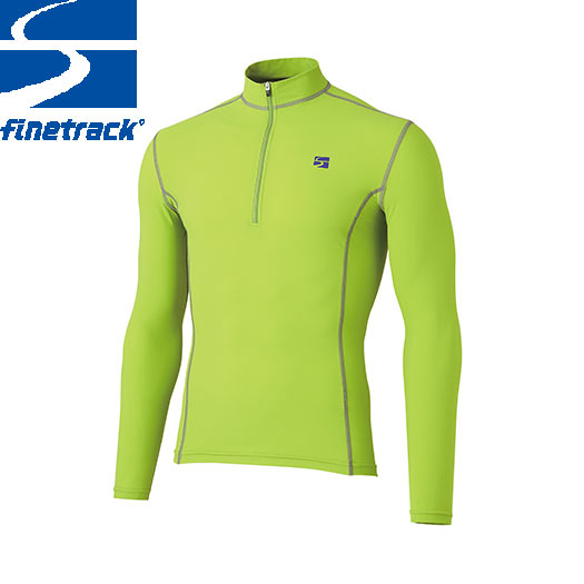 finetrack ファイントラック メンズ ラピッドラッシュジップネック Col:CG アンダーウエア ジップアップ スポーツ 吸汗 速乾 撥水:FWM0422