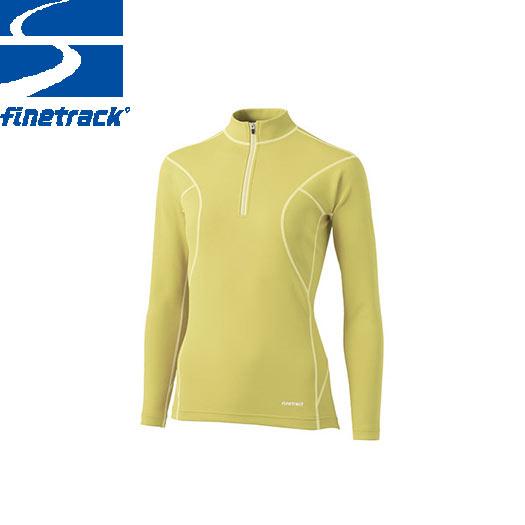 finetrack ファイントラック レディース フラッドラッシュ ジップネック Col:PT アンダーウエア ジップアップ スポーツ 吸汗 速乾 撥水 保温:FWW0122