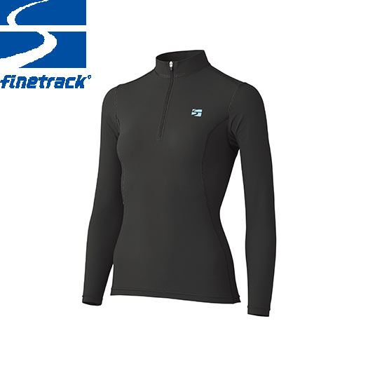 finetrack ファイントラック レディース ラピッドラッシュジップネック Col:CA アンダーウエア ジップアップ スポーツ 吸汗 速乾 撥水 保温:FWW0422