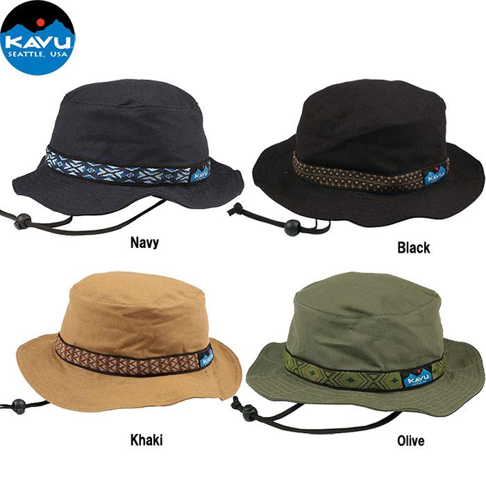 ポイント5倍!12/19AMまで!KAVU カブー ストラップバケットハット Strap Bucket Hat CAP 帽子 キャップ (Khaki):11863452