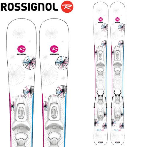 ROSSIGNOL ロシニョール 19-20 スキー 2020 FUN GIRL (100-130) +(KID-X 4 金具付き) ファンガール ジュニア スキー板 :RAIJY02