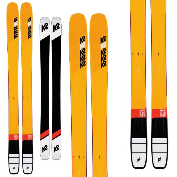 K2 ケーツー 19-20 スキー MINDBENDER 108Ti マインドベンダー 108Ti (板のみ) スキー板 2020 パウダー ロッカー (onecolor):