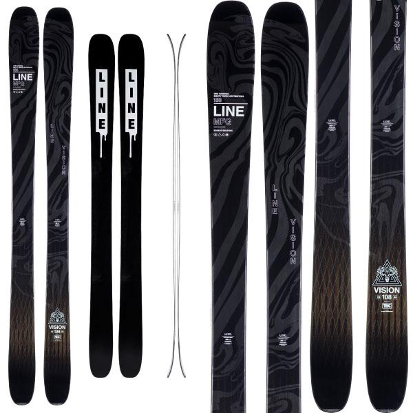 LINE ライン 19-20 スキー VISION 108 ビジョン108 (板のみ) スキー板 2020 パウダー オールマウンテン バックカントリー (onecolor):