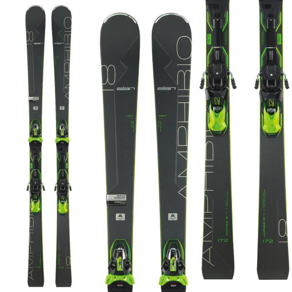ELAN エラン 19-20 スキー 2020 AMPHIBIO 18Ti2 Fusion X アンフィビオ 18Ti2 (金具付き) オールラウンド デモ スキー板 (onecolor):