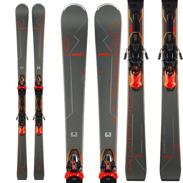 ELAN エラン 19-20 スキー 2020 AMPHIBIO 14Ti Fusion X アンフィビオ14Ti (金具付き) オールラウンド デモ スキー板: [34SSスキー]