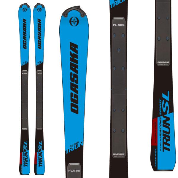 OGASAKA オガサカ 19-20 スキー 2020 TRIUN SL + FL585 トライアン (スキー+プレート) スキー板 SL レーシング (onecolor):
