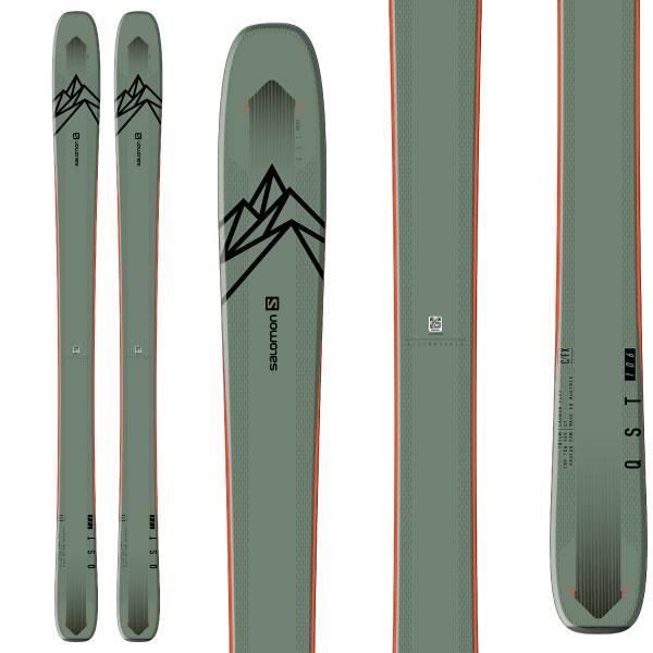 SALOMON サロモン 19-20 スキー 2020 QST 106 クエスト 106 (板のみ) スキー板 パウダー ロッカー (onecolor):