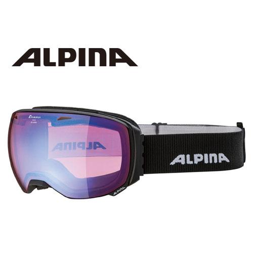 ALPINA アルピナ BIG HORN HM ブラックマット 球面 ミラー ゴーグル スキー: [34SS_GOG]