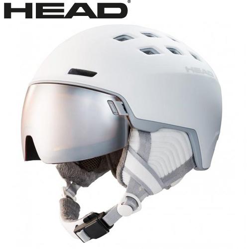 HEAD ヘッド 19-20 ヘルメット RACHEL col:White スキー スノーボード ヘルメット バイザー付:323509 [34SS_HEL]