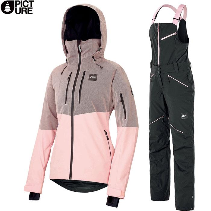 PICTURE ピクチャー SIGNE JKT+HAAKON BIB 2019-2020 上下セット WOMEN スキーウェア 女性用 2019/2020 FW :WVT152&WPT060 [34SS_WSsw]