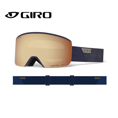 GIRO ジロ 19-20 AXIS アクシス 7095012 MIDNIGHT PEAK VIVID アジアンフィット AF ゴーグル メンズ 平面レンズ:7095012