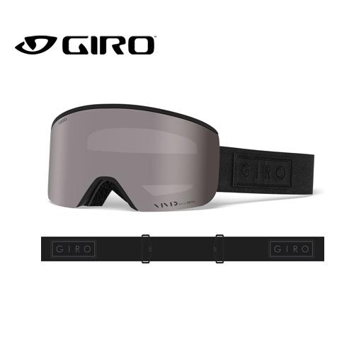 GIRO ジロ 19-20 AXIS アクシス 7083265 BLACK BAR VIVID アジアンフィット AF ゴーグル メンズ 平面レンズ:7083265