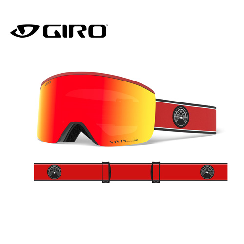 GIRO ジロ 19-20 AXIS アクシス 7105293 RED ELEMENT VIVID アジアンフィット AF ゴーグル メンズ 平面レンズ:7105293