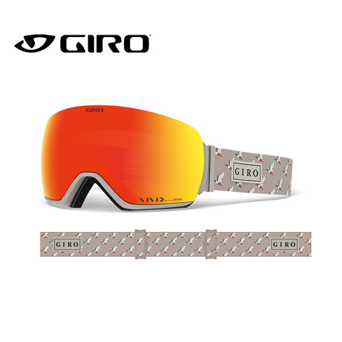 GIRO ジロ 19-20 ARTICLE アーティクル 7105279 DUCK VIVID アジアンフィット AF ゴーグル メンズ 球面レンズ:7105279