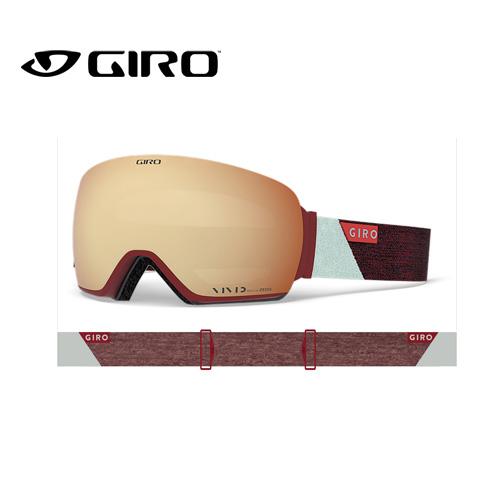 GIRO ジロ 19-20 LUSI ルーシー 7095159 SCARLET GREY PEAK アジアンフィット AF ゴーグル レディース 球面レンズ:7095159