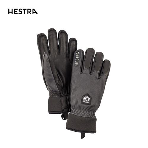 HESTRA ヘストラ 2020モデル Leather Wool 30800 レザーウール 350100(Grey/Black) スキーグローブ レザー ウールライナー [34SS_GLO]