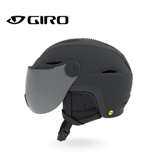 GIRO ジロ 19-20 VUE MIPS AF ビューミップス Matte Black アジアンフィット AF ヘルメット バイザー付き:7109638