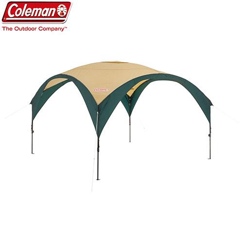 COLEMAN コールマン パーティーシェードDX/300 (グリーン/ベージュ) 〔2018SS キャンプ用品 テント タープ 〕 (グリーンベージュ):2000033122