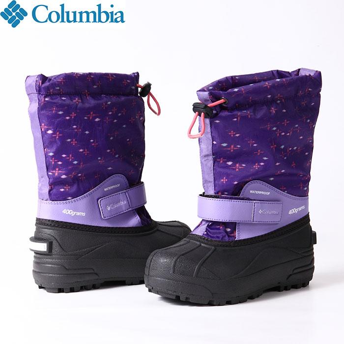 ポイント5倍!12/19AMまで!Columbia コロンビア チルドレンズパウダーバグフォーティプリント 防寒 シューズ ブーツ 靴 ジュニア (512):BC1325