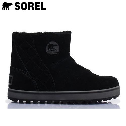 日本人女性のためにデザインされたショートブーツ SOREL ソレル 19-20 GLACY SHORT 日本産 100%品質保証 グレイシーショート 010 レディース :LL5195 防水シューズ ウインターブーツ 防寒靴
