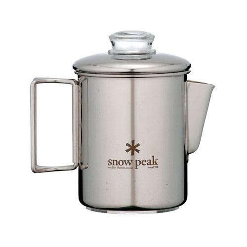 SNOWPEAK スノーピーク ステンレスパーコレーター 6カップ〔調理器具 キャンプ用品 クッカー ケトル〕 (NC):PR-006