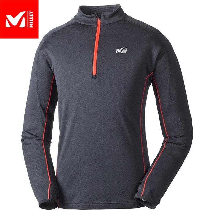 クーポン&ポイント最大10倍 MILLET ミレー キャスターウールジップロングスリーブ CASTOR WOOL ZIPLS 2018FW ZIPシャツ カットソー MEN'S (BLACK-NOIR):MIV01443