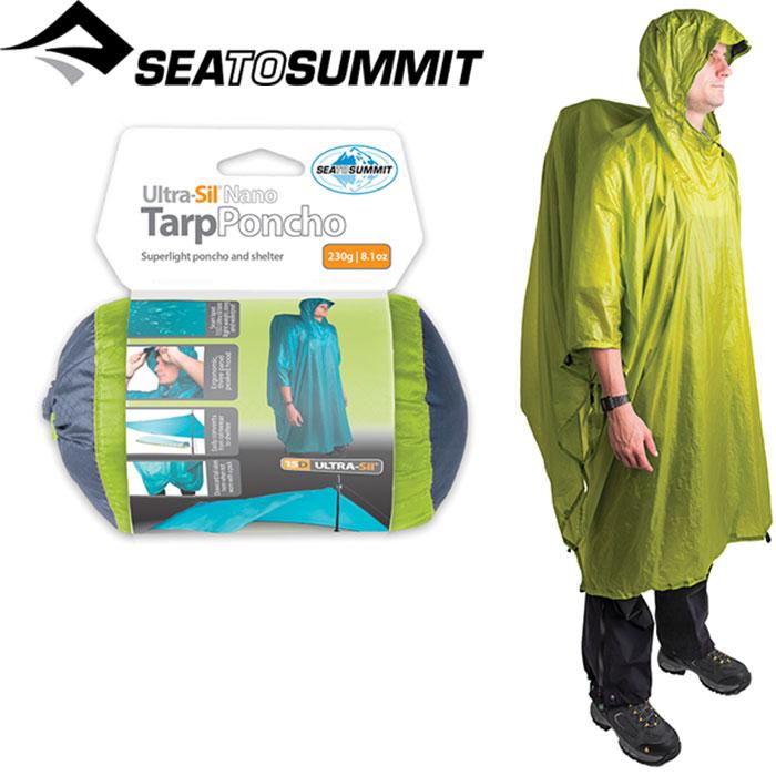 SEA TO SUMMIT シートゥサミット ウルトラシルナノタープポンチョ 〔雨具 レイン 2017SS〕 (ライム):ST82502