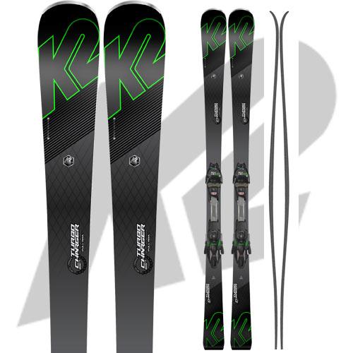 10%OFFクーポン発行中!11/22まで K2 ケーツー 17-18 スキー Ski 2018 TURBO CHARGER ターボチャージャー [金具付き] オールラウンド カービング: [2018pt0]