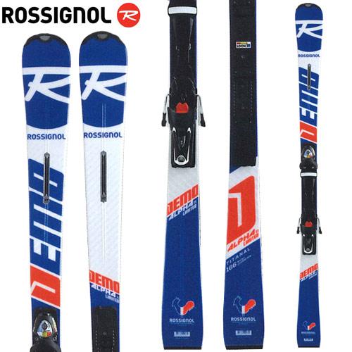 ROSSIGNOL ロシニョール 18-19 スキー 2019 デモアルファ DEMO ALPHA Ti Ltd (R22プレート) + SPX 12 (金具付き) デモ 基礎 (-):RAHLA03