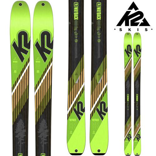 [11/16まで 10%OFFクーポンあり] K2 ケーツー 18-19 スキー Ski 2019 WAYBACK 88 ウェイバック 88 (板のみ) パウダー ロッカー オールマウンテン ツアー 山スキー (-):