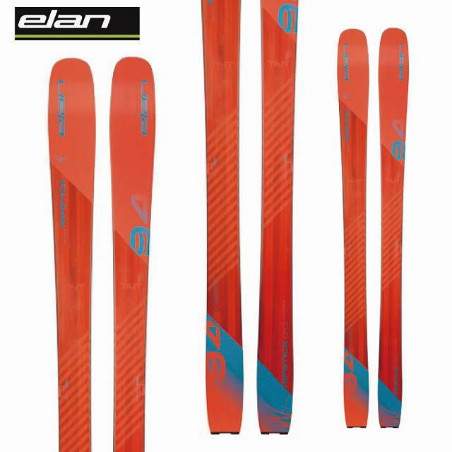 [11/16まで 10%OFFクーポンあり] ELAN エラン 18-19 スキー Ski 2019 リップスティック 94 RIPSTICK 94 (板のみ) 軽量 オールマウンテン 山スキー (-):