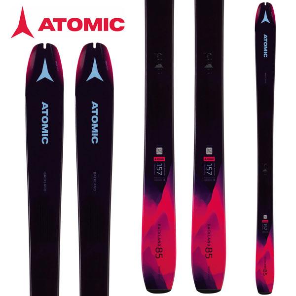 [11/16まで 10%OFFクーポンあり] ATOMIC アトミック 18-19 スキー Ski 2019 バックランド BACKLAND 85 W オールマウンテン ツアースキー 山スキー レディース (-):AA0027172