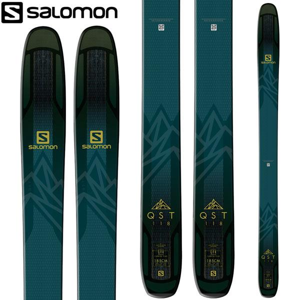 SALOMON サロモン 18-19 スキー Ski 2019 クエスト 118 QST 118 (板のみ) パウダー ロッカー (-):