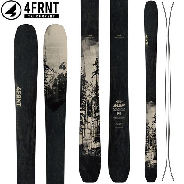 4FRNT フォーフロント 18-19 SKI 2019 スキー エムエスピー MSP (板のみ) パウダー オールマウンテン (-):