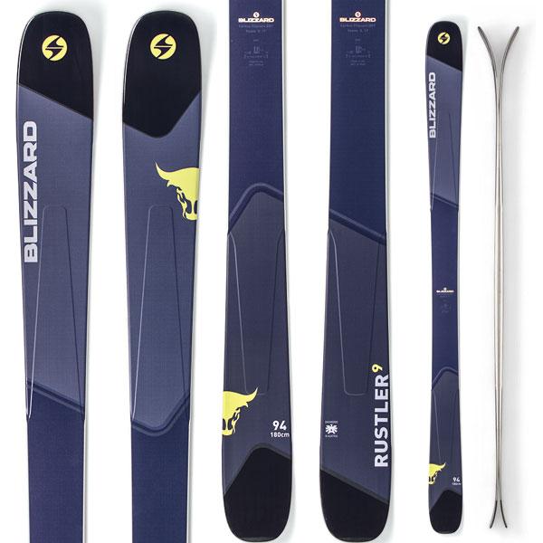 [送料無料] BLIZZARD ブリザード 18-19 ski 2019 スキー RUSTLER 9 ラスラー9 (板のみ) オールマウンテン パウダー ロッカー (-):