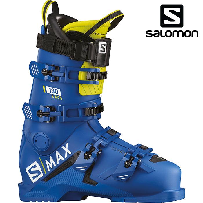 サロモン エスマックス130 スキーブーツ (Raceblu):L40547300 スキーブーツ 18-19 レース〔2019 SALOMON 競技〕 S/MAX130RACE アルペン レース
