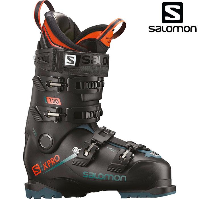 SALOMON サロモン 18-19 スキーブーツ X PRO 120 エックスプロ120〔2019 スキーブーツ オールラウンドモデル 上級者 〕 (Black-Blue-Orange):L40550900 [outlet boot]