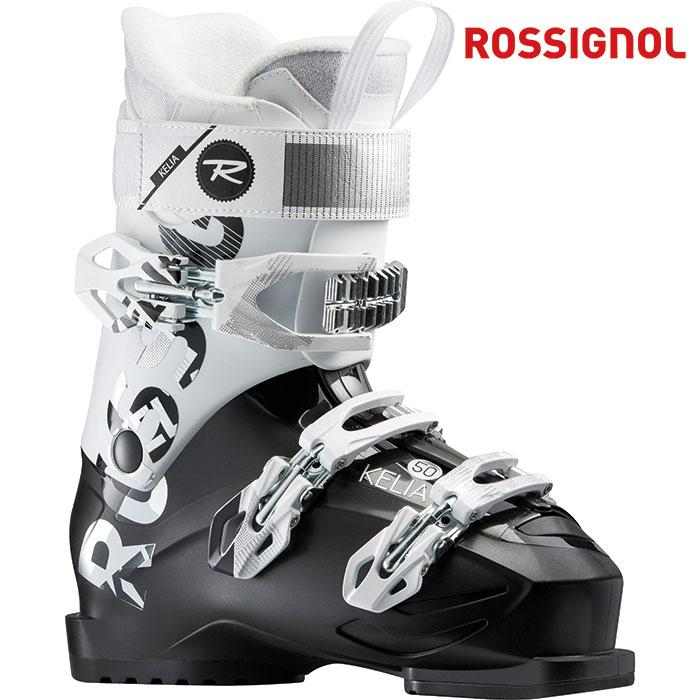 ROSSIGNOL ロシニョール 18-19 KELIA50 ケリア50 〔2019 スキーブーツ 初級 幅広 女性用〕 (BLACK-WHITE):RBF8350-H