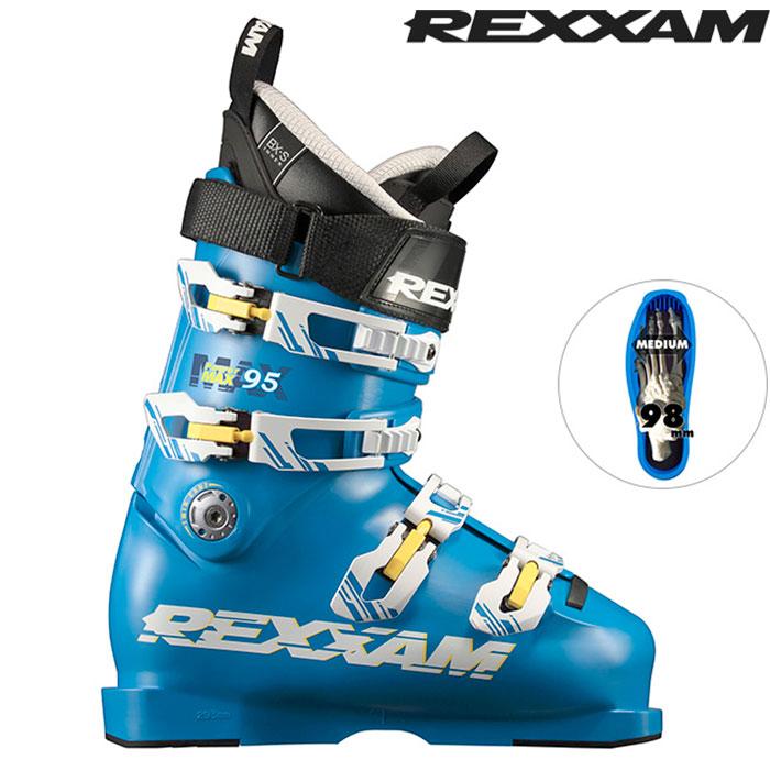 [11/16まで 10%OFFクーポンあり] 18-19 REXXAM レクザム スキーブーツ Power MAX-95 パワーマックス95(BX-Sインナー)〔2019 中・上級者モデル 基礎スキー オールランド 〕 (BLUE):X2JL-725