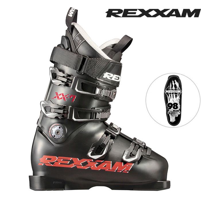 18-19 REXXAM レクザム スキーブーツ XX-7 クロス7(BX-Sインナー)〔2019 モーグル フリースタイル フリーライドモデル 〕 (BLACK):X2JS-299 [outlet boot]