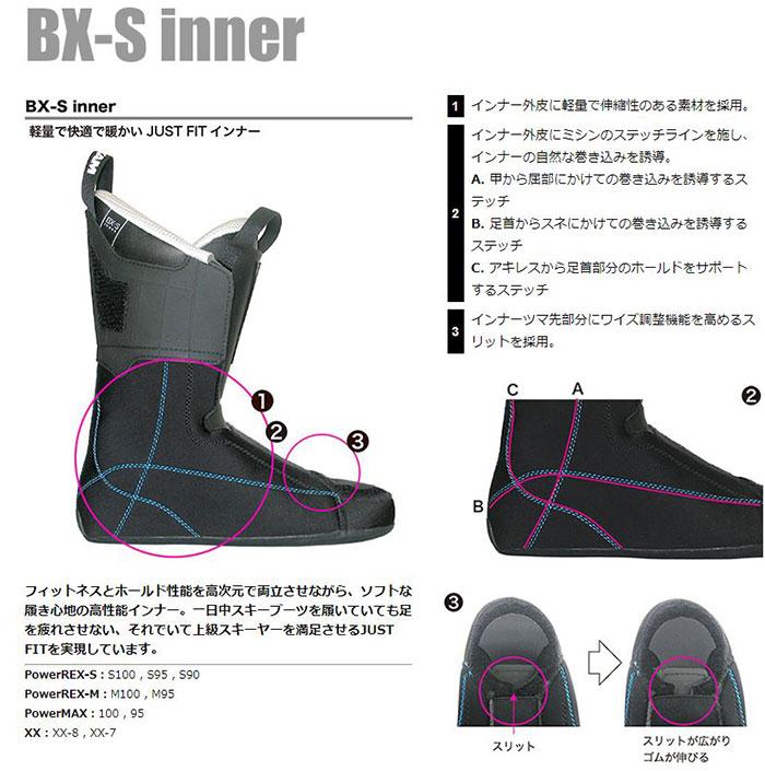 [11/16まで 10%OFFクーポンあり] 18-19 REXXAM レクザム スキーブーツ XX-7 クロス7(BX-Sインナー)〔2019 モーグル フリースタイル フリーライドモデル 〕 (BLACK):X2JS-299P