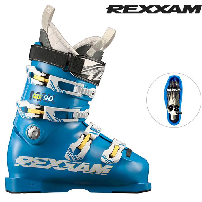 [11/16まで 10%OFFクーポンあり] 18-19 REXXAM レクザム スキーブーツ Power MAX-90 パワーマックス90(CX-SSインナー)〔2019 中級者モデル 基礎スキー オールランド 〕 (BLUE):X7JM-725